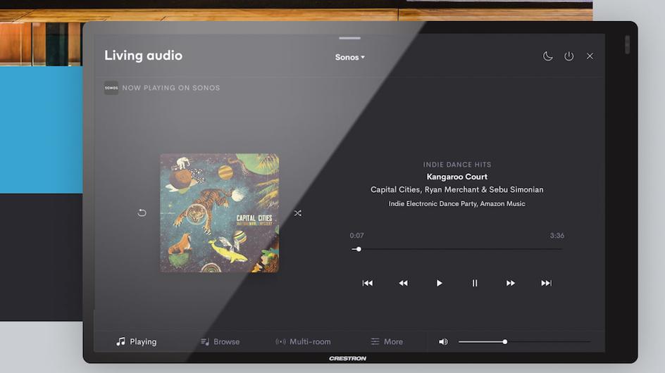 Crestron Home y su sistema de audio del hogar