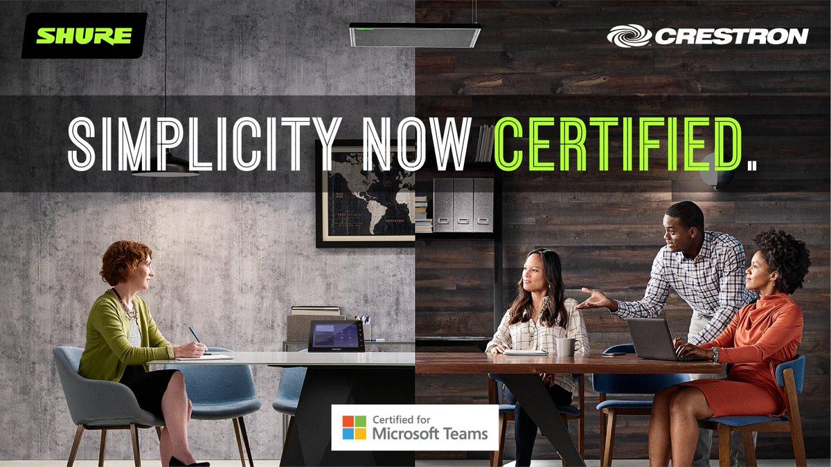 Salas de Microsoft Teams con IntelliMix Room y Crestron